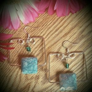 Artisan Designed Statement Square Earrings